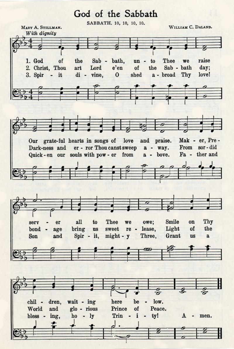 God of the Sabbath