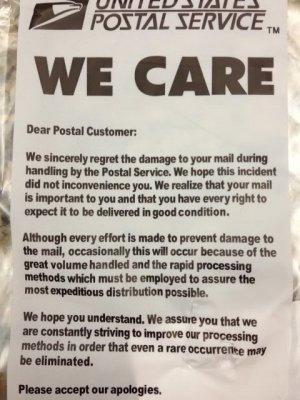 we care USPS